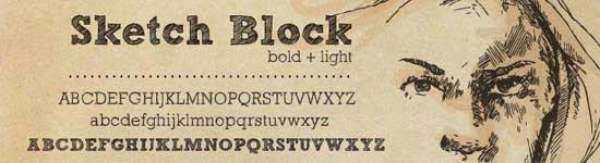 Скачать шрифт sketch block