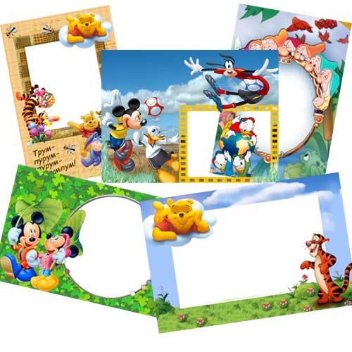 Детские рамки для фото с мультяшными героями